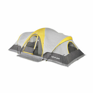 Tahoe-Gear-Manitoba-14-Person-Family-Outdoor-Camping-Tent-with-Rainfly-Orange