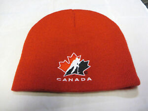 Team Canada Olympic Hockey cap hat beanie red 2010 vancouver maple ... f1981796e4e