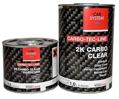 Carbo Clear Plus Carbon Klarlack Set Inkl Härter Carsystem