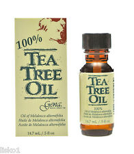Gena 100% Tea Tree Oil a natural antiseptic skin nails and scalp 1/2oz.