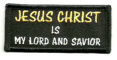 """""""JESUS CHRIST IS MY LORD AND SAVIOR"""" IRON ON PATCH"""