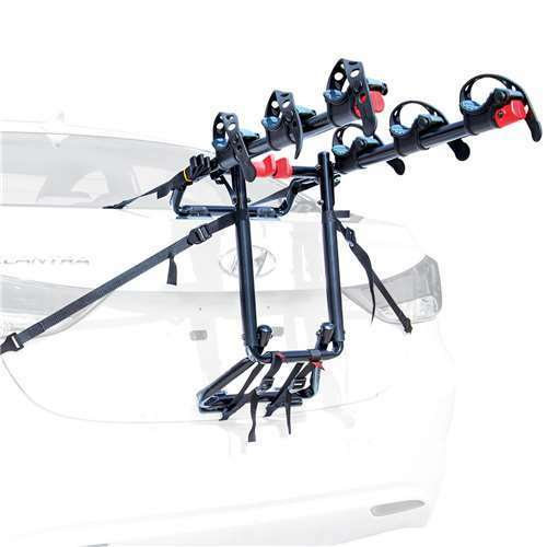 Allen Sports Premier 3 Bike Steel Trunk Carrier with Tie Down Straps (Open Box)