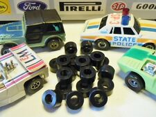 Tom's AFX Tyco 440 Tomy Turbo Slot Car Soft Black Silicone Racing Tires 10 Pair
