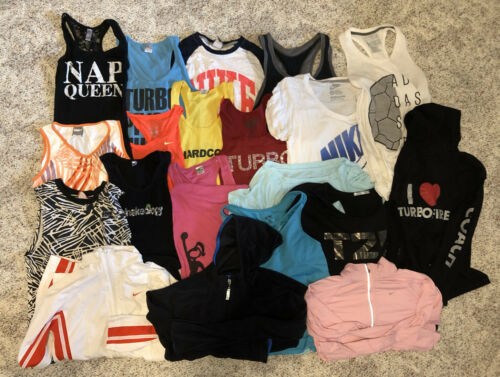 Huge Lot 20 Athletic Tops S M Under Armour Nike Ad