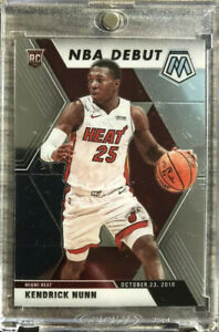 2019-20-Panini-Prizm-Mosaic-Kendrick-Nunn-Rookie-Card-RC-NBA-Debut-Miami-Heat