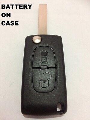 Apuesto 2 Button Flip Key Case-shell For Peugeot 807 3008 5008 Expert Peu03 Para Ser Reconocido Tanto En Casa Como En El Extranjero Por Mano De Obra Exquisita, Tejido HáBil Y DiseñO Elegante