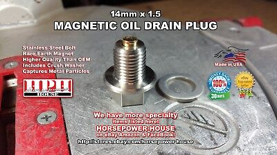 14mm MAGNETIC OIL DRAIN PLUG @ YAMAHA VIRAGO XV 250 535 V STAR XT350