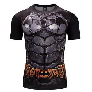 1df57def1f9b3 Running T-shirt Compression Sports Gym Fitness Batman 3D Print Tops ...