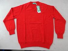Hawick Knitwear Golf Sweater Medium 100% Extra Fine Merino Wool Tartan Scarlet
