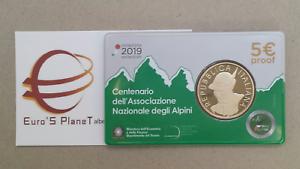 coin-card-5-euro-Italia-2019-Alpini-Italie-Italy-Italien-proof-Fs-BE-PP