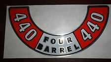 MOPAR 440 FOUR BARREL AIR CLEANER DECAL