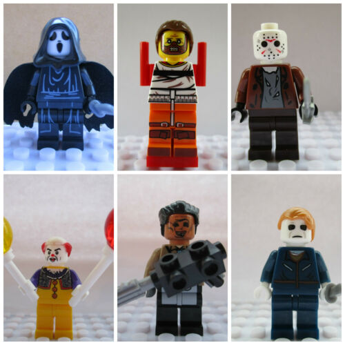 Use With lego 6 Pc Halloween Horror Movie Mini Figure Set Jason,Scream,Hannibal