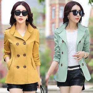 New-Spring-Women-039-s-Short-Slim-jacket-Coat-trench-coat-windbreaker-Outwear