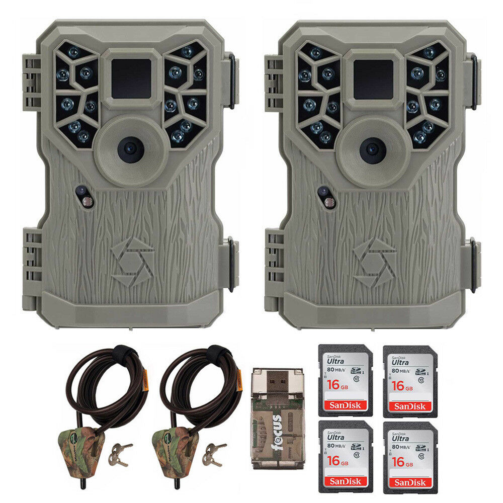 Stealth Cam 10MP Trail Game Camera (2) with Cable (2)  and 16GB Card (4) Bundle  just buy it