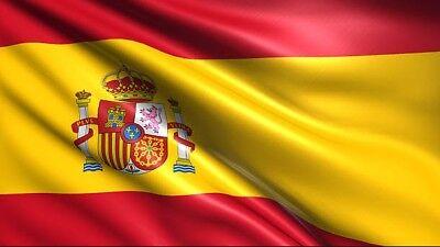 BANDERA REINO de ESPAÑA ROJIGUALDA 150x90 NACIONAL ESCUDO CORONA PLUS ULTRA