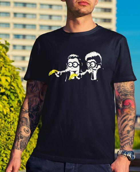 Bello Da Uomo Pulp Minion T-shirt-pulp Fiction Divertente Regalo Novità Nerd Geek Film Papa' Prezzo Di Strada