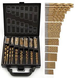 99Pcs-Drill-Bits-Titanium-Coated-Metal-HSS-Twist-Steel-Brick-Set-Black-Case-UK