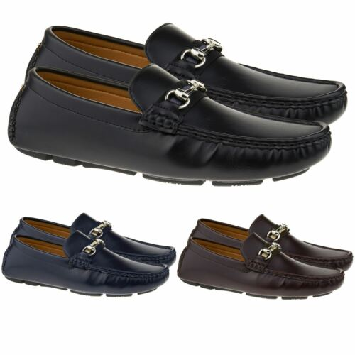 New Mens Slip On Loafers Casual Driving Shoes Moccasins Boat Deck Size UK 6-11