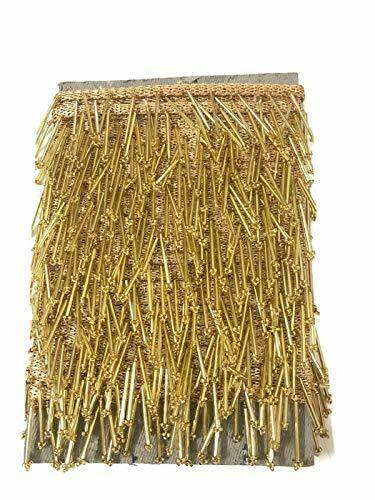 Golden Tassels Latkan Hanging Laces and Border for Dresses Decorations,Material