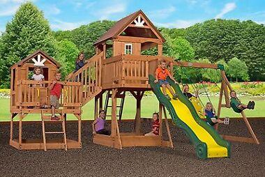 Leisure Time Malibu Cedar Swing Set
