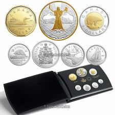 Canada 2017 7 Coin Silver Proof Set with Allegorical Miss Canada Gold-Plated $1