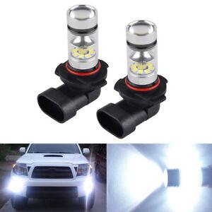 2x Bevinsee Auto White Fog Light Lamp Bulbs 100W H10 9145 High Power LED 6000K