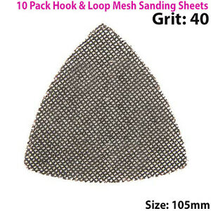 10 Pack 105mm- Grain 180 en carbure de silicium Mesh Triangle Feuilles abrasives – Crochet & Boucle-afficher le titre d`origine uC1tTWl4-07202544-315900346