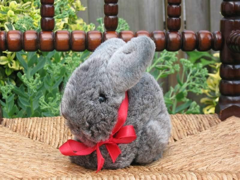 Steiff Hoppel Rabbit Bunny 2956/16 grau 1990 Only