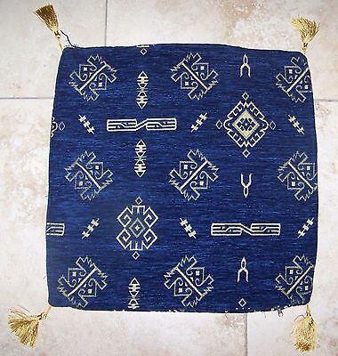 "no insert Blue Cylinder 20/"" Turkish Cotton Blend Festival Design Pillow cover"