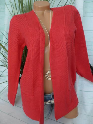 542 Olsen Tricot Veste Cardigan Gilet Tricot Taille 36 à 46 Rouge argile