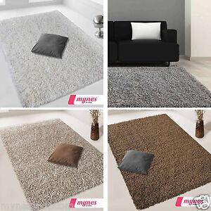 hochflor langflor shaggy teppich in 160x230 in braun grau cream beige wohnzimmer ebay. Black Bedroom Furniture Sets. Home Design Ideas