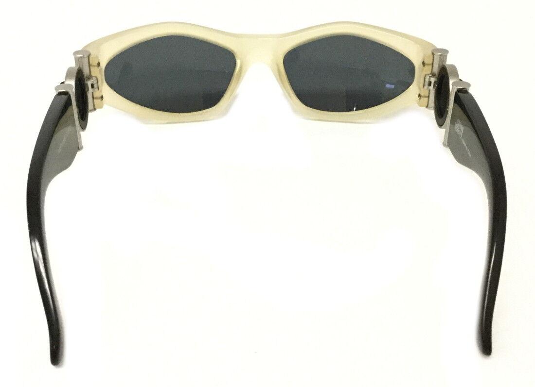 Gianni Versace Vintage 618/b Black & Clear Sungla… - image 3