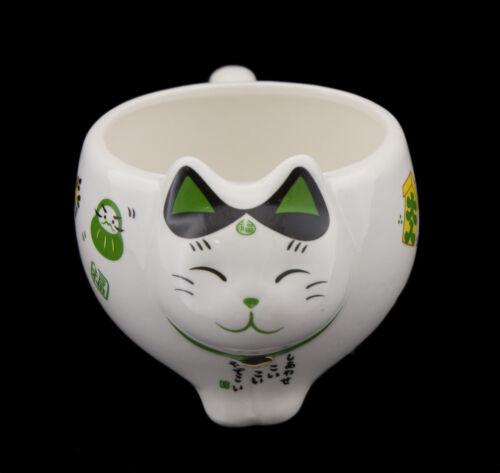 Chat Japonais Service à The Maneki Neko 1 Theiere et 2 Tasses en Ceramique 40639