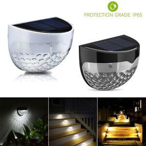 6-LED-Lampe-Solaire-Applique-Jardin-Eclairage-Exterieur-Lumiere-chaude
