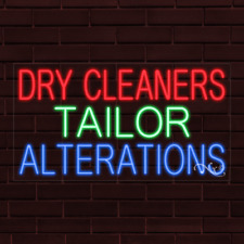 New Dry Cleaners Tailor Alterations 37x20x1 Inch Led Flex Indoor Sign 31695