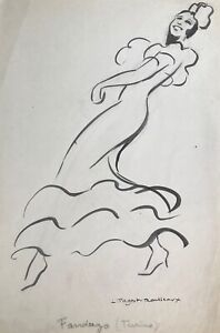 Lucienne-Pageot-Rousseaux-Drawing-Original-Ink-Argentina-IN-Fandango