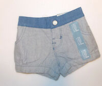 Baby Gap Infant Girls Shorts Blue Size 0-3 Months