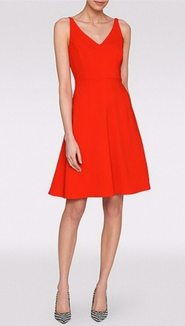 Designer LK BENNETT BENNETT BENNETT Laverne dress size 6 --BRAND NEW-- orange knee length b99fa7