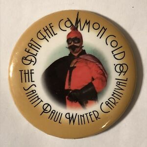 1999-Saint-Paul-Winter-Carnival-Beat-The-Common-Cold-Pinback-Button-Pin-2-1-4-034