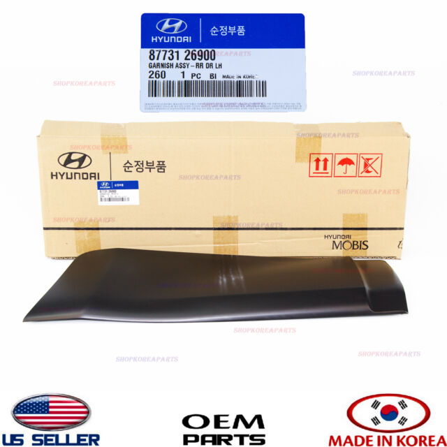 Right Rear Genuine Hyundai 87736-39000 Door Waist Line