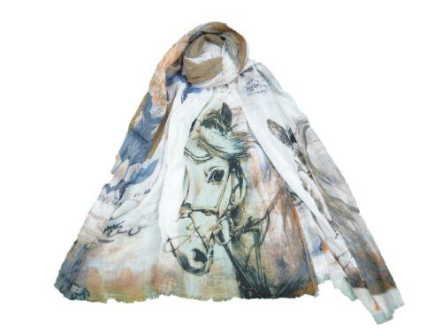 Stampa Animale Cavallo Grande Celebrity Fashion Sciarpa Wrap Scialle Maxi Sarong 3 COLORI