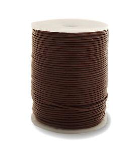 50m-Lederband-braun-1-5-mm-stark-Spule-0-46-1m-50-Meter-auf-Rolle-Spule
