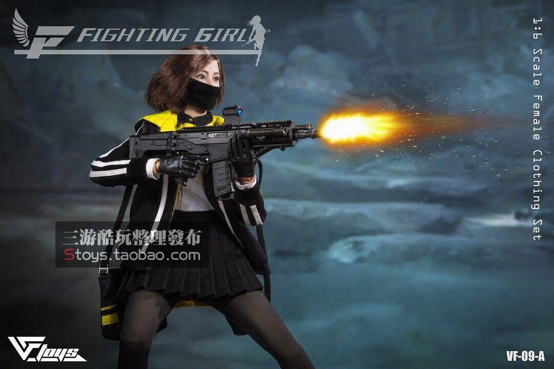 tienda de venta en línea VF Juguetes VF09A 1 6 soldado soldado soldado lucha Firl Negro Conjunto de Ropa figura femenina Juguetes  mejor vendido