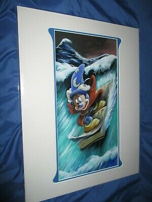 Mickey Mouse Art Print By Brian Blackmore Disney Parks Exclusive Fantasia Ebay