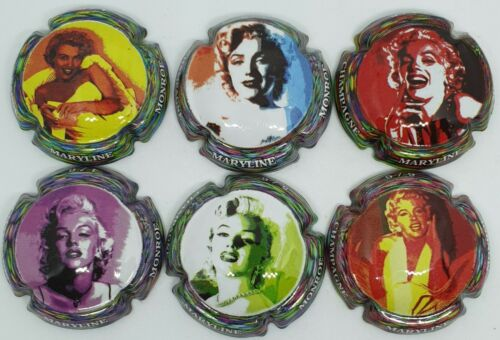 Série de 6 capsules de champagne Maryline Monroe