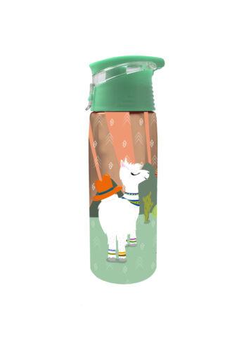 700ml Transparente Trinkflasche im Lama Design aus bruchfestem Tritan//PP