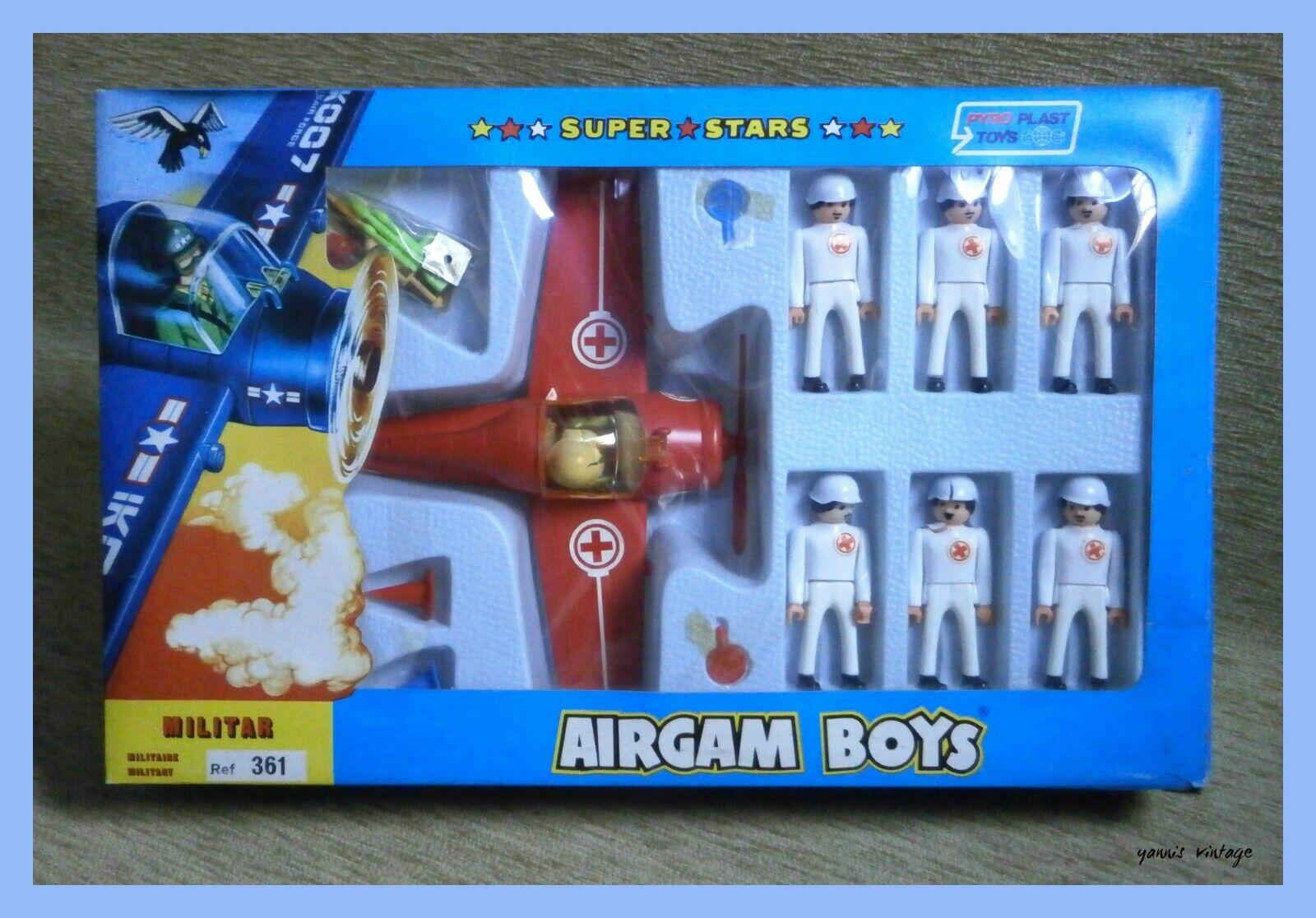 AIRGAM BOYS SUPER STARS Red Cross MILITARY NIB PYROPLAST TOYS Greece Greek VTG