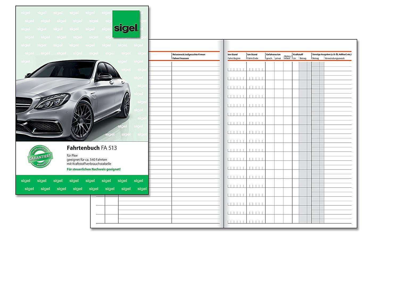 Sigel FA513 Fahrtenbuch A5, 32 Blatt Blatt Blatt - für Vielfahrer max. 540 Fahrten - OVP | Gute Qualität  aa23f9