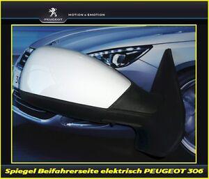 Seitenspiegel-Aussenspiegel-elektrisch-Beifahrerseite-Peugeot-306-komplett
