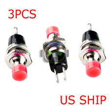 3 X Momentary Push Button Switch Dc 50v 05a Red Knob Usa Seller Free Ship